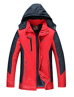 Men's Regular Padded Coat,Simple Active Chinoiserie Sports Going out Solid Print-Cotton Polypropylene Long Sleeves
