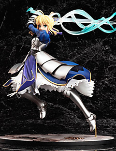 billige Anime cosplay-Anime Action Figurer Inspirert av Fate / Stay Night Saber Altria Pendragon PVC 25 cm CM Modell Leker Dukke