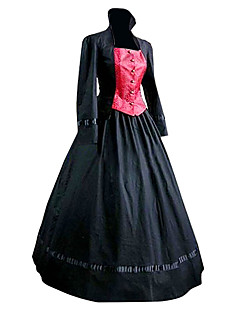 cheap Lolita Fashion Costumes-Classic Lolita Dress Medieval Victorian Women's Dress Cosplay Black Poet Sleeve Long Sleeve Long Length