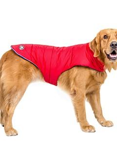 billiga Hundkläder-Hund Kappor 14 Diamantspets Väst Hundkläder Enfärgad Orange Röd Blå nylon PVA Kostym För husdjur Ledigt/vardag Håller värmen Vattentät