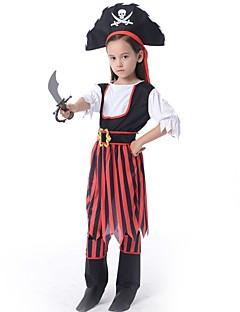 Pirat Drakter Barn Halloween Jul Festival/høytid Halloween-kostymer Lapper