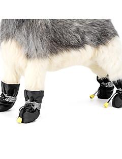 Koira Anti-Slip Sole Bootsit Talvisaappaat Koiran vaatteet Rento/arki Pidä Lämmin Uusivuosi Tukeva Musta Harmaa Punainen Sininen Pinkki