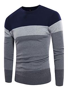 tanie Męskie swetry i swetry rozpinane-Męskie Rozmiar plus Aktywny Okrągły dekolt Pulower Wielokolorowa