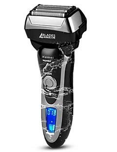 kemei km5568 vaskbar elektrisk barbermaskin rask ladning hele kroppen vaskbar resirkulerende elektrisk barbermaskin fire blad barbering