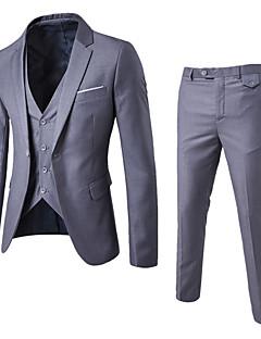 Erkek Polyester Uzun Kol Gömlek Yaka Kış Sonbahar Solid Basit Çalışma Normal-Erkek Suit