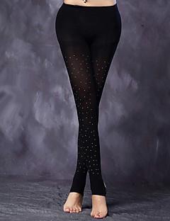 baratos Acessórios de Dança-Dança Latina Meias Finas Mulheres Apresentação Elastano Strass Meias