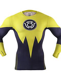 billige Løbetøj-Herre Løbe-T-shirt Hurtigtørrende, Reducerer gnavesår, Letvægt for Yoga / Boksning / Træning & Fitness Polyester, Spandex L / XL / XXL