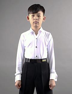 latin tanssi t-paidat poikien suorituskyvyn spandex pitkähihainen top tyylikäs