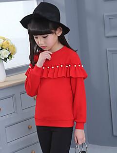 cheap Girls' Hoodies & Sweatshirts-Girls' Solid Hoodie & Sweatshirt, Cotton Winter Long Sleeves Cute Black Red Blushing Pink