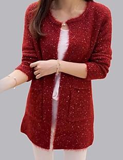 cheap Women's Sweaters-Women's Long Sleeves Mohair Long Cardigan - Solid