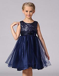 שמלה פוליאסטר אחרים אביב קיץ סתיו ללא שרוולים ליציאה טלאים הילדה של
