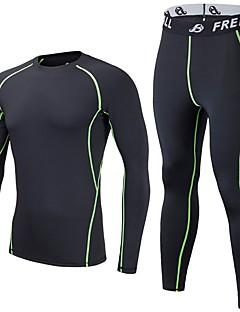 Homens Segunda-Pele de Esqui Secagem Rápida Redutor de Suor Respirabilidade Leve Exercicio Exterior Multi-Esporte Sertão Elastano
