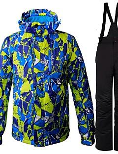 billiga Skid- och snowboardkläder-Herr Skidjacka och -byxor Varm, Ventilerande, Vindtät Skidåkning / Camping / Multisport Polyester Klädesset Skidkläder