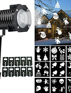 preiswerte Briefkasten Lampen-Weihnachten licht projektor innen im freien halloween rotierenden nachtlicht projektor schneeflocke scheinwerfer 10 rutschen weiß