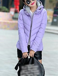 お買い得  レディースダウン&パーカー-女性用 プラスサイズ フード付き ショート パッド入り カラーブロック