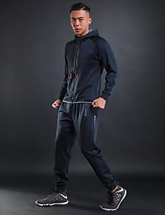 billiga Träning-, jogging- och yogakläder-Herr Träningsoverall - Svart / röd, Grå, Marinblå sporter Blommig / Botanisk Träningsoverall / Klädesset Löpning, Jogging Långärmad