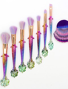 baratos -8pçs Pincéis de maquiagem Profissional Conjuntos de pincel Pêlo Sintético Cobertura Total Plástico