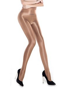 cheap Socks & Hosiery-Women's Medium Pantyhose, Nylon Solid One-piece Suit Black Beige Khaki