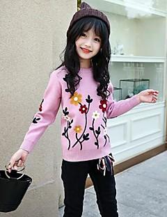 お買い得  子供用ファッション-女の子 刺繍 コットン レーヨン ブラウス 秋 冬 長袖