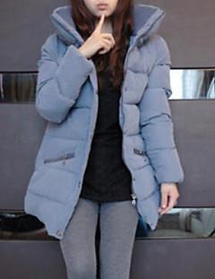 コート ダウン レディース,カジュアル/普段着 ソリッド コットン コットン-シンプル 長袖