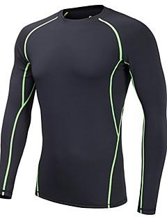 billiga Skid- och snowboardkläder-Herr Termounderkläder Snabb tork Utomhusträning / Multisport / Backcountry Elastan, polyster Överdelar Skidkläder