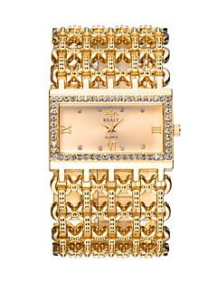 Dames Modieus horloge Dress horloge Polshorloge Chinees Kwarts Hol Gegraveerd imitatie Diamond Metaallegering Band Luxe Informeel Bangle