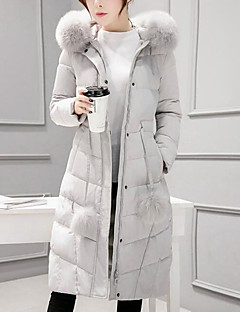 Women's Padded Coat,Casual Going out Solid-Cotton Polypropylene Long Sleeves
