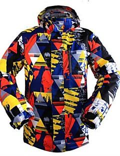 お買い得  スキーウェア-男性用 スキージャケット ウォーム 通気性 防風 耐久性 耐水性の スキー マルチスポーツ ウィンタースポーツ スノーシューイング ポリエステル