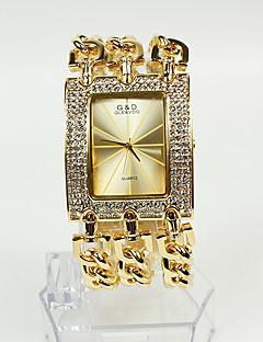 baratos -Mulheres Bracele Relógio Relógio de Moda Quartzo Banda Brilhante Dourada