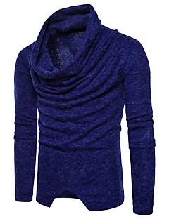 tanie Męskie swetry i swetry rozpinane-Męskie Praca Golf Pulower - Czysta Kolor, Jendolity kolor