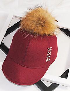 ユニセックス 秋 冬 ヴィンテージ キュート パーティー オフィス カジュアル ツイード パッチワーク ベースボールキャップ 日よけ帽 スタイリッシュ