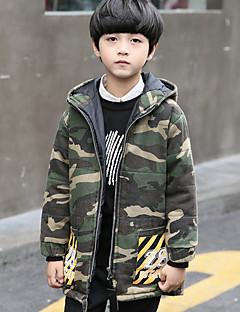 tanie Odzież dla chłopców-Dla chłopców Moro Odzież puchowa / pikowana Army Green