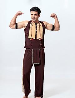 Etnisk/Spirituell Cosplay Kostumer Mann Halloween Karneval Oktoberfest Festival/høytid Halloween-kostymer Brun Vintage