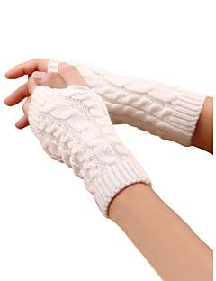 tanie Akcesoria zimowe-Damskie Na co dzień Do łokcia Z odsłoniętymi palcami Rękawiczki Geometryczny