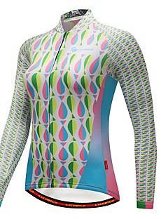 billige Sett med sykkeltrøyer og shorts/bukser-CYCOBYCO Dame Langermet Sykkeljersey - Hvit Sykkel Jersey, Hold Varm