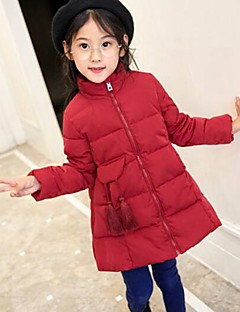 Jente Dun- og bomullsfôret Ensfarget Bomull Rayon Polyester Langermet
