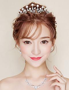 billige Trendy hårsmykker-Dame Formell Stil Asiatisk Klassisk Stil Hårbånd,Alle årstider Rhinstein Imitert Perle Imitert Perle Hvit