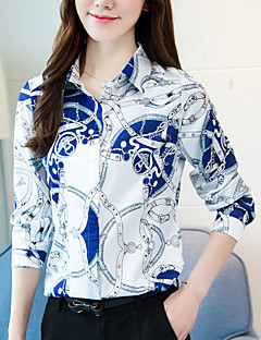 cheap Women's Shirts-Women's Street chic Shirt Print Shirt Collar