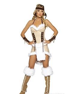 Klassiek en Tradtioneel Lolita Etnisch Geïnspireerd door vintage Vrouwelijk Cosplay Kostuums Gemaskerd Bal Outfits Cosplay Wit Mouwloos