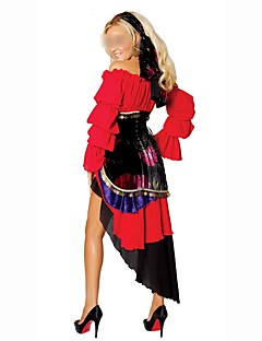 Holiday Ethnic/Religious Gypsy Outfits Female Halloween Christmas Festival / Holiday Halloween Costumes Red