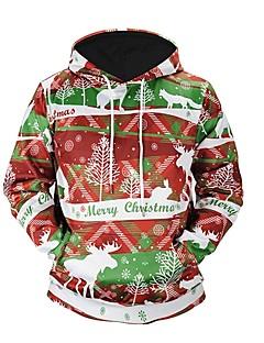 billige julen Kostymer-Snømann julenissen Hattetrøje Unisex Jul Festival / høytid Halloween-kostymer Rød Stripet