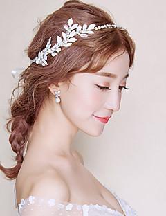billige Trendy hårsmykker-Dame Formell Stil Asiatisk Klassisk Stil Hårbånd,Alle årstider Rhinstein Hvit Rød