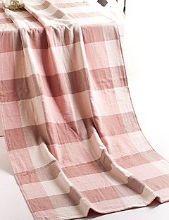 Frischer Stil Badehandtuch,Karomuster Gehobene Qualität Reine Baumwolle Handtuch