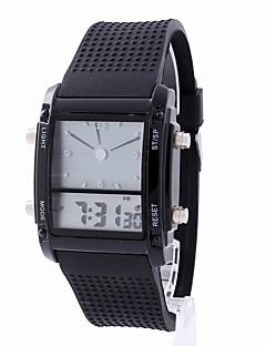 billige Modeure-Dame Digital Watch Kinesisk Kronograf / Selvlysende i mørke / LCD Gummi Bånd Afslappet / Elegant / Mode Sort / Hvid