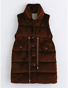 cheap Girls' Clothing-Girls' Solid Vest, Cotton Sleeveless Brown