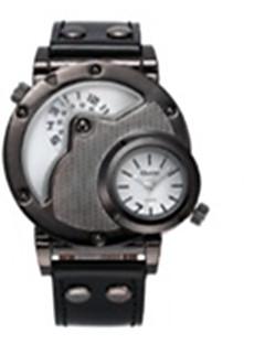 billige Læder-Herre Quartz Armbåndsur Kalender / Termometer / Selvlysende i mørke / Kompas Læder Bånd Afslappet / Mode