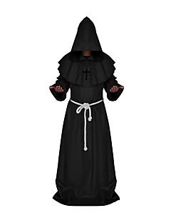 Vintage Middeleeuws Kostuum Mannelijk Cosplay Kostuums Gemaskerd Bal Zwart Wit blauw Rood Koffie Vintage Cosplay Polyster Lange mouw Tot