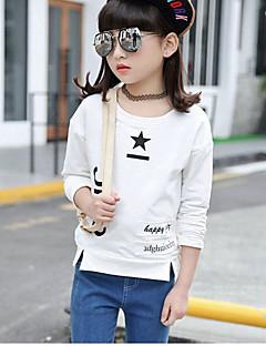 Mädchen Bluse Solide Einfache Baumwolle Herbst Winter Langarm Standard
