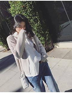 baratos Suéteres de Mulher-Mulheres Manga Longa Lã Carregam - Sólido Lã