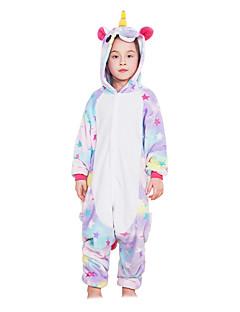 Kigurumi Pyjamas Pegasus Enhjørning Kostume Lilla Flannelstoff Cosplay Kostumer Kigurumi Trikot / Heldraktskostymer Cosplay Festival /